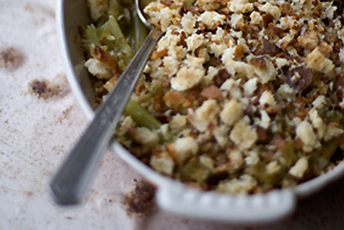 how to make crunchy bread crumb topping