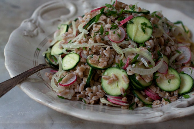Buttermilk Farro Salad recipe