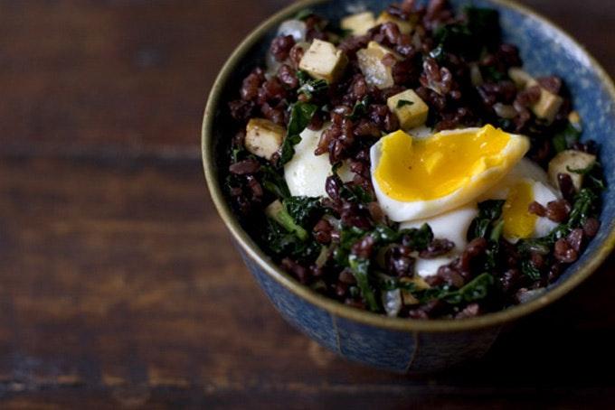 Poached Eggs Over Rice Recipe - 101 Cookbooks