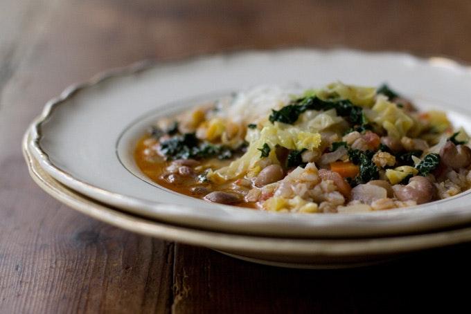 Simple Farro & Bean Stew