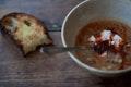 Dried Fava Soup with Mint and Guajillo Chiles recipe