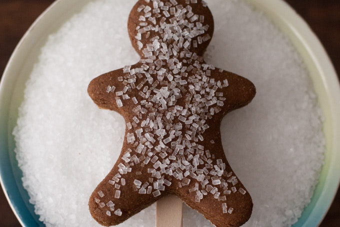 Gingerbread Man Cookies (on sticks!)