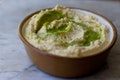 Hummus with Green Goo recipe