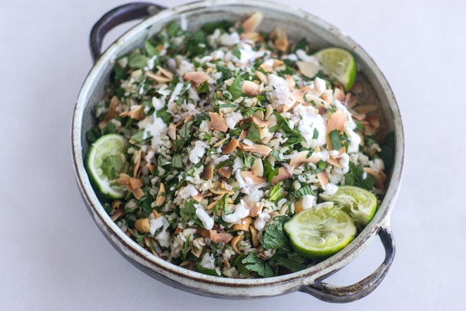 Herbal Rice Salad with Peanuts