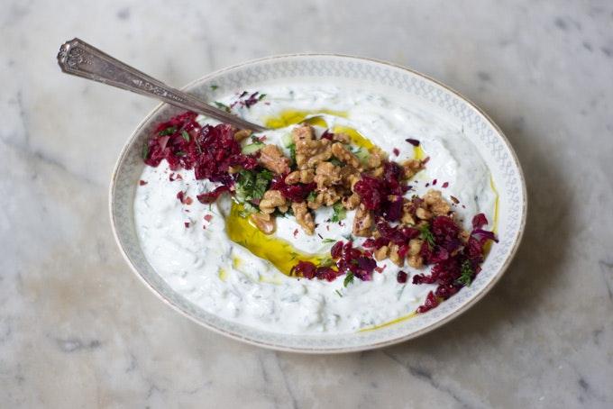 Mast-o-Khiar Yogurt Dip recipe