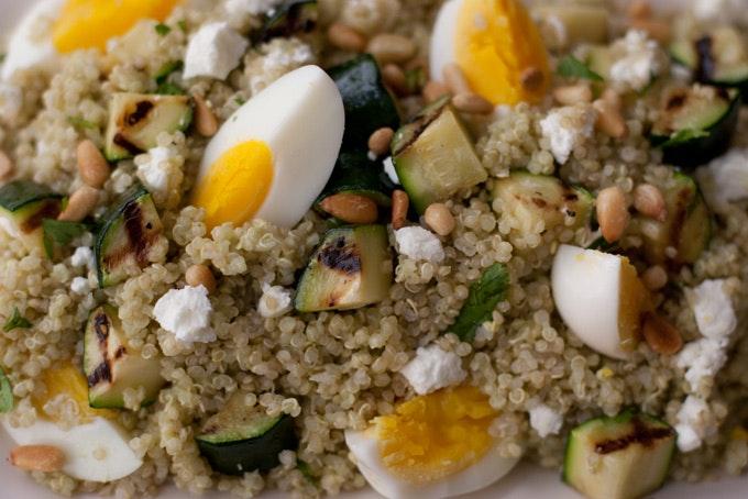 Quinoa and Grilled Zucchini recipe