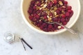 Saffron Raspberries recipe