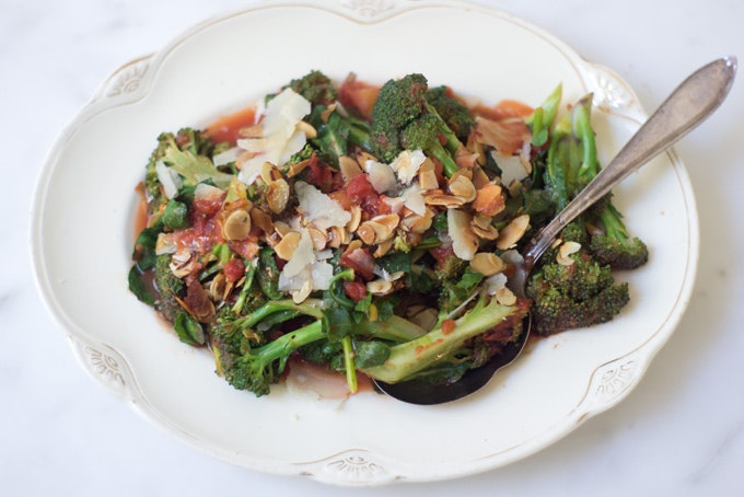 Braised Broccoli with Orange and Parmesan