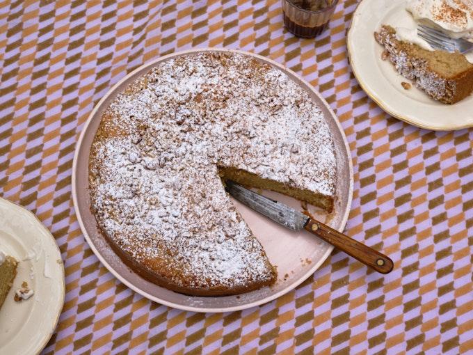 Walnut Nutmeg Butter Cake