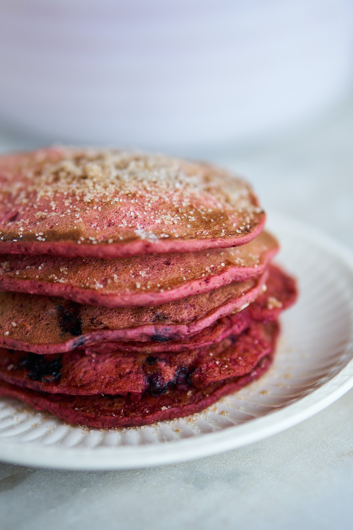 Blueberry Beet Pancakes