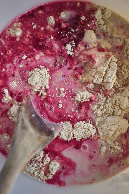 Blueberry Beet Pancakes (Vegan)