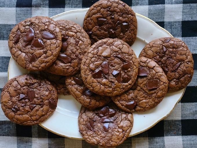 Aran's Double Chocolate Buckwheat Crinkle Cookies