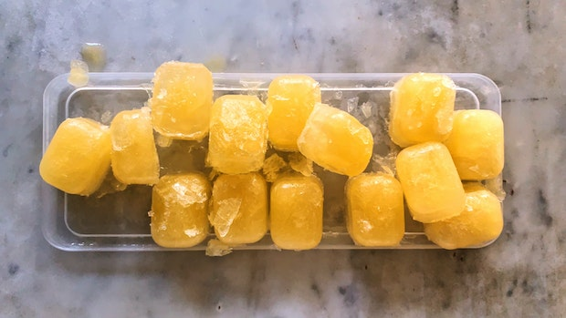 Meyer Lemon Ice Cubes