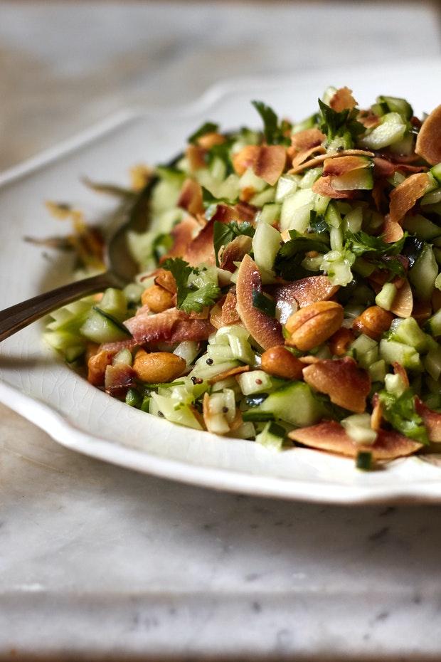 Spicy Peanut & Cucumber Salad
