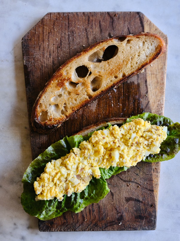 The perfect egg salad sandwich