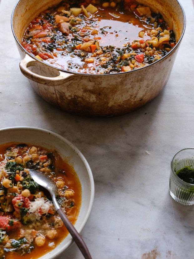 Simple Farro & Bean Soup