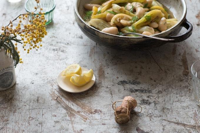 Giant Lemon Fennel Beans Recipe