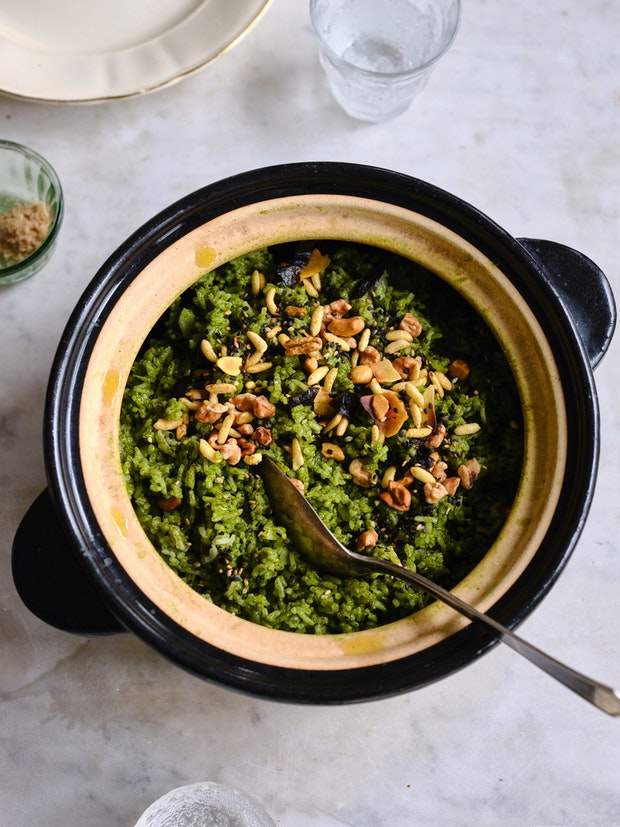 El increíble arroz verde de Bryant Terry