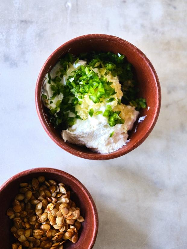 Garlic and Green Chile Spiked Yogurt