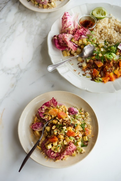 Spicy Rainbow Chop Salad with Peanuts