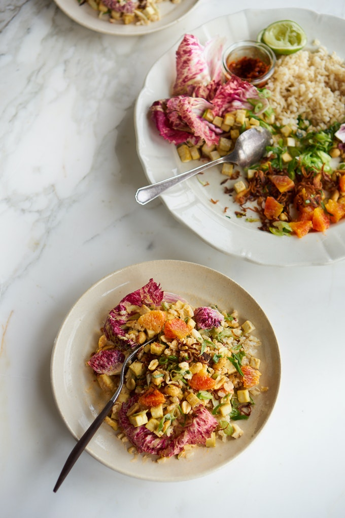 Spicy Rainbow Chopped Salad with Peanuts