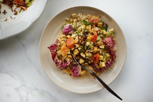 Spicy Rainbow Chop Salad with Peanuts