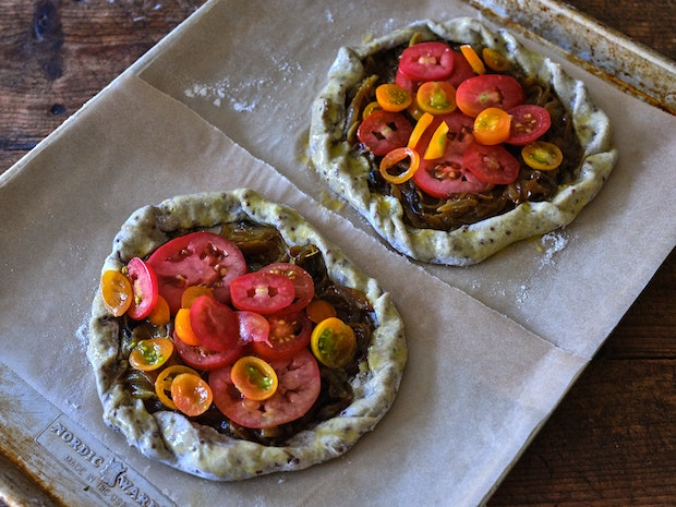 Tomato Tarts Before Baking