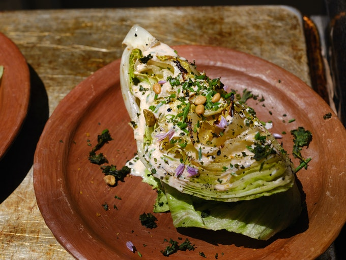 Grilled Wedge Salad with Spicy Ranch Dressing