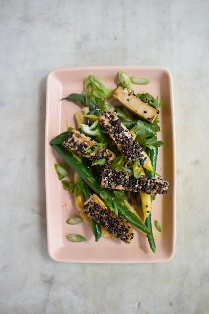 Golden-crusted Sesame Seeded Tofu