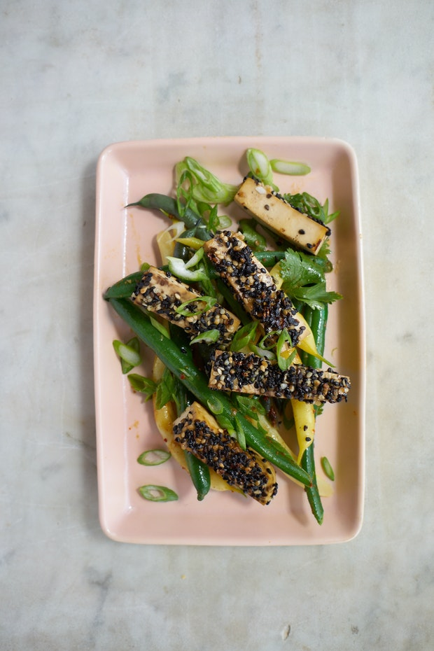 Golden-crusted Sesame Seeded Tofu