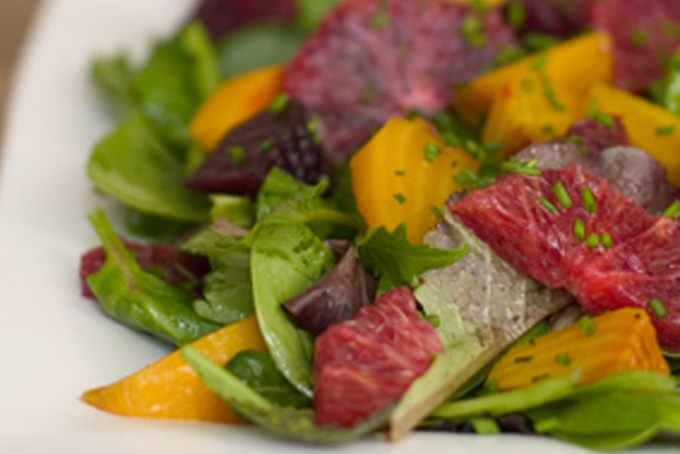 Roasted Beet and Blood Orange Salad with Spicy Greens ...