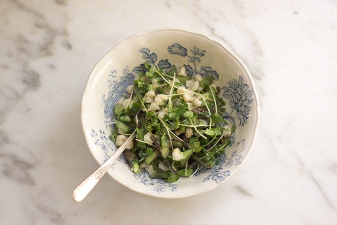 Buttermilk Asparagus Salad