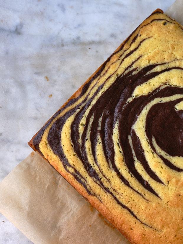 Chocolate Almond Swirl Cake