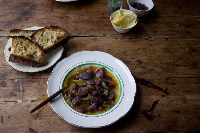 Christmas Soup.Christmas Lima Bean Stew