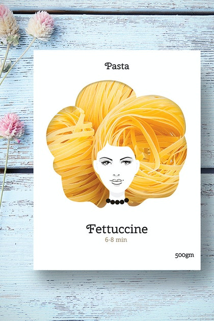 Good Hair Day Pasta's Delightful Packaging