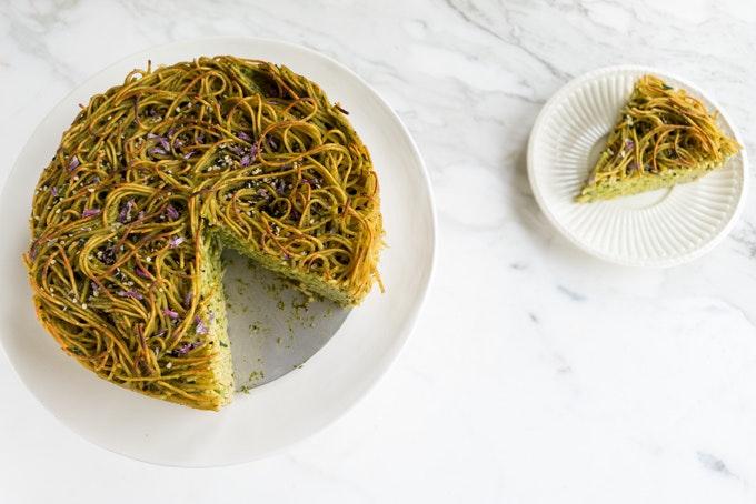 Green Spaghetti Pie