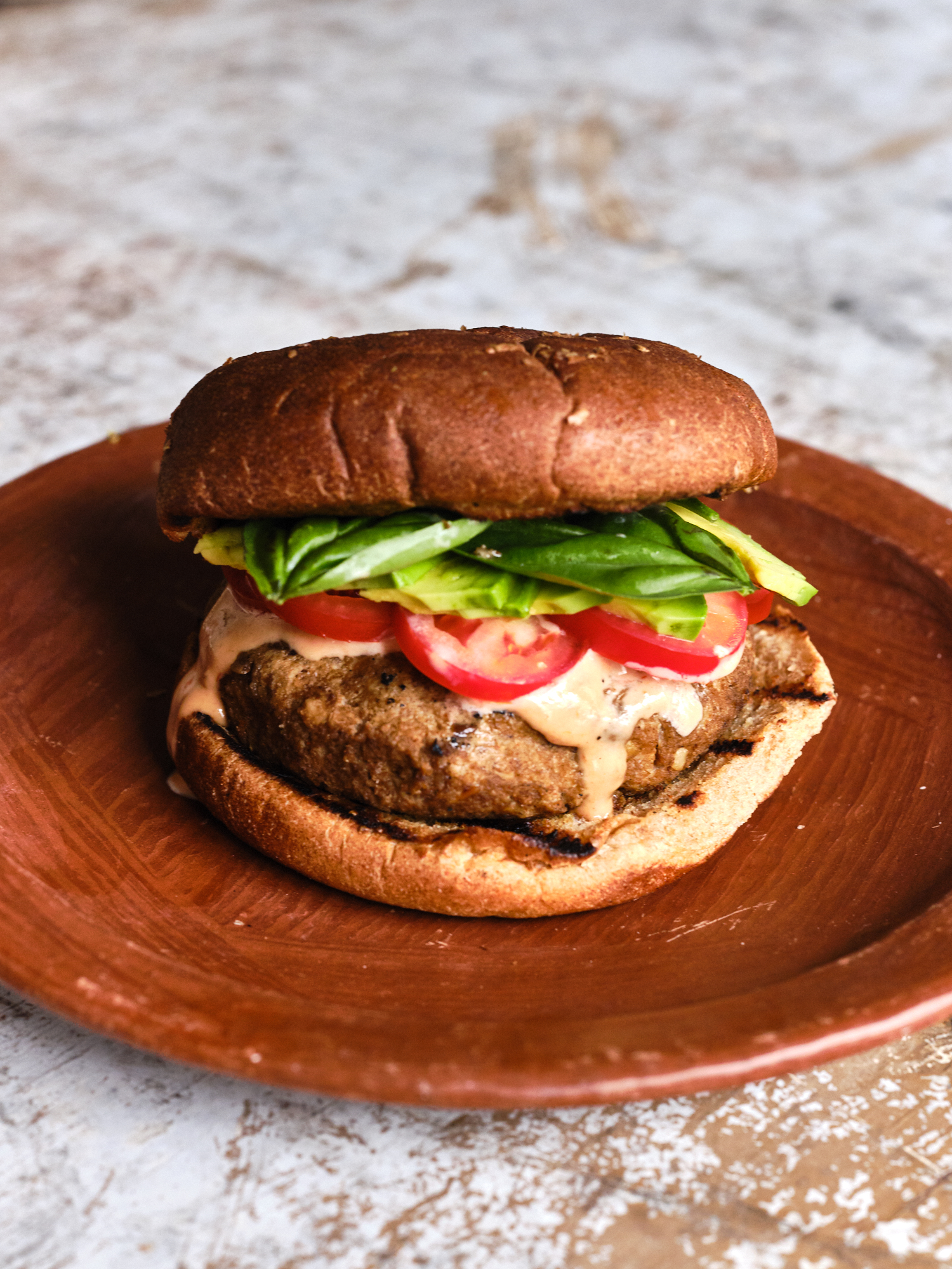 A Grillable Tofu Burger Recipe