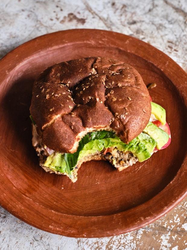 A Grillable Tofu Burger Recipe