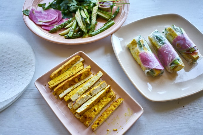 Turmeric Grilled Tofu Spring Rolls 101 Cookbooks
