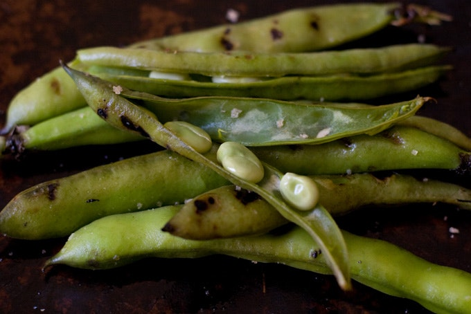 Grilled Fava Beans