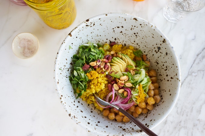 Instant Pot Brown Rice Bowl with Chickpeas