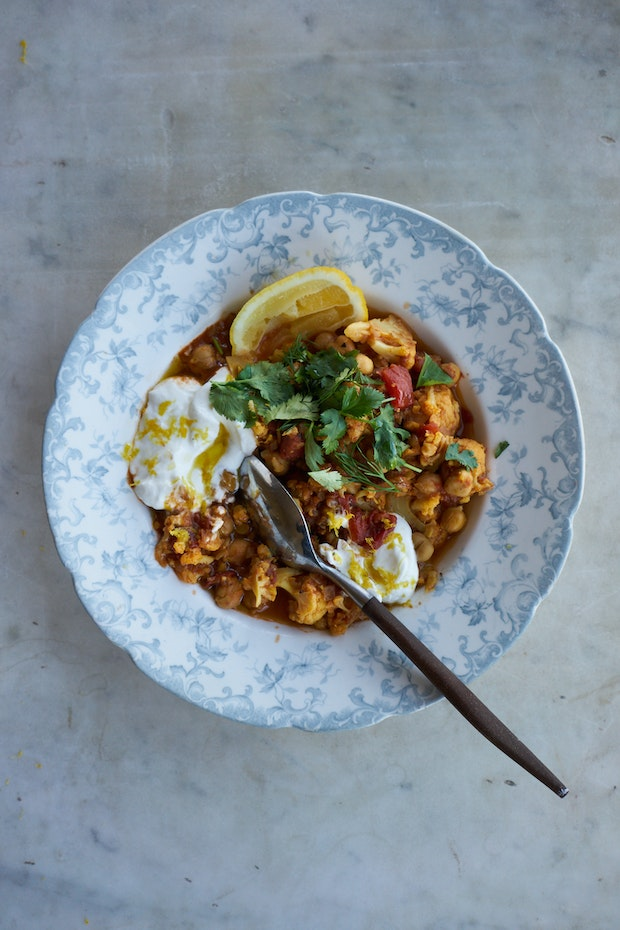 Instant Pot Chickpea Cauliflower Korma