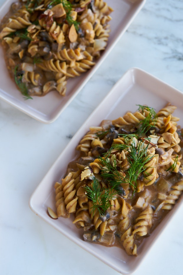 Instant Pot Mushroom Stroganoff with Vodka