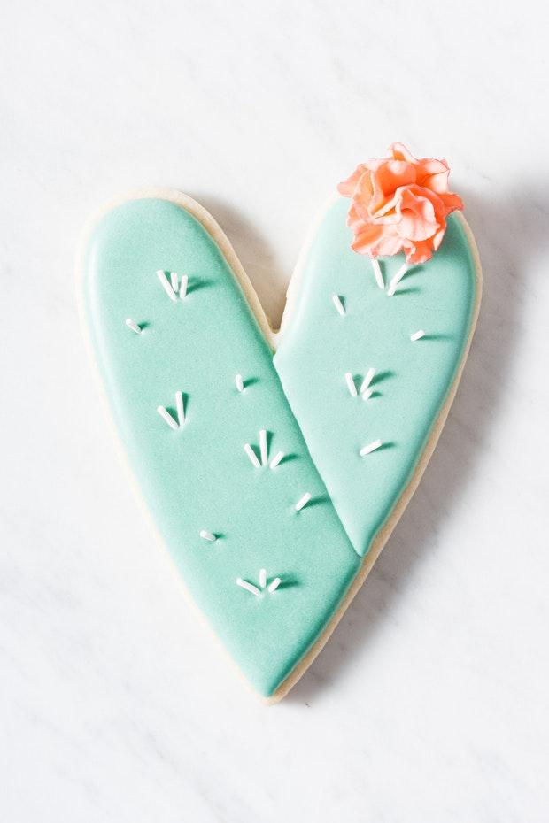 Jes Lahay Cactus Heart Cookies