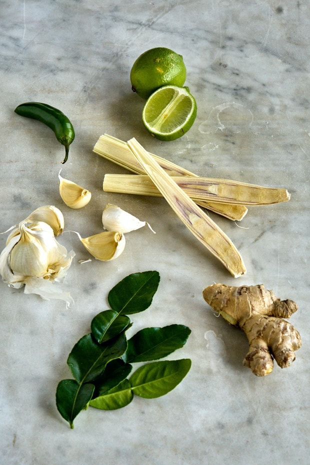 Lime Leaf Miso Soup