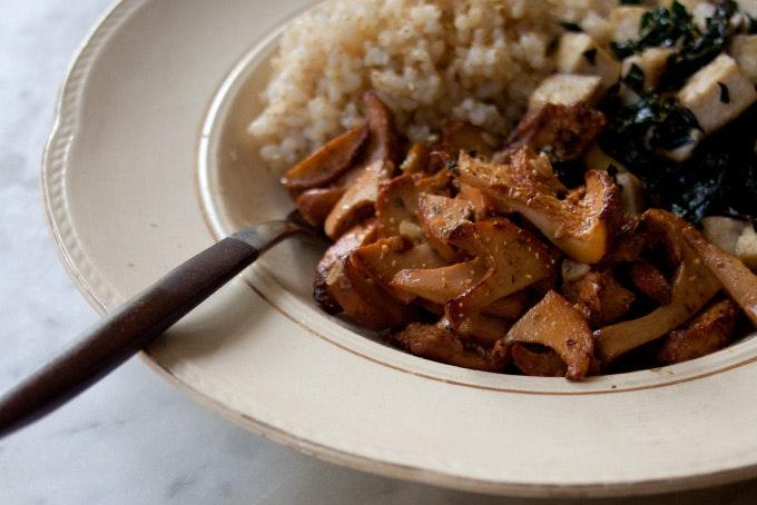 Shichimi Mushroom Rice Bowl