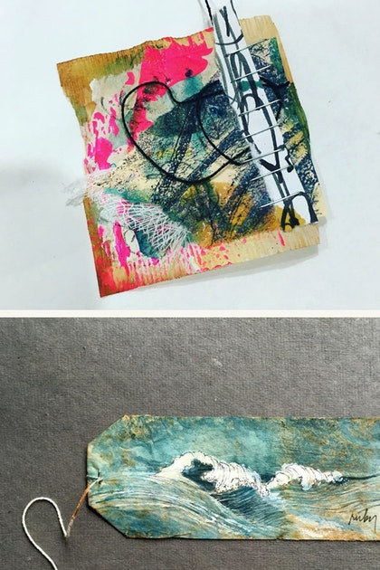 These Intricately Embroidered and Painted Tea Bags are Incredible