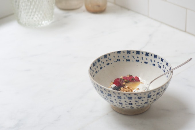 Pluot & Poppy Yogurt  Bowl