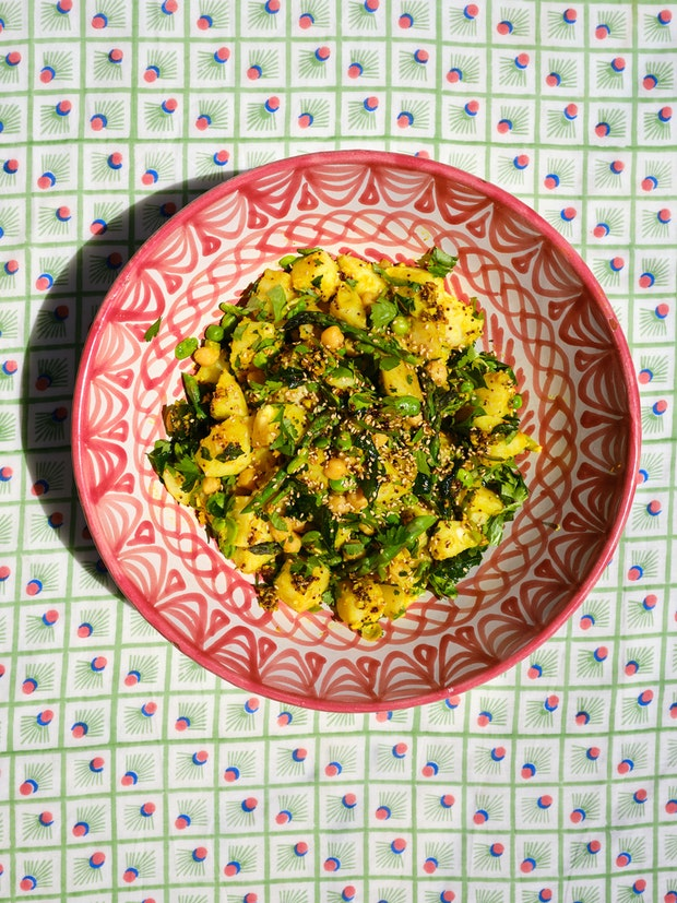 A maximalist potato salad