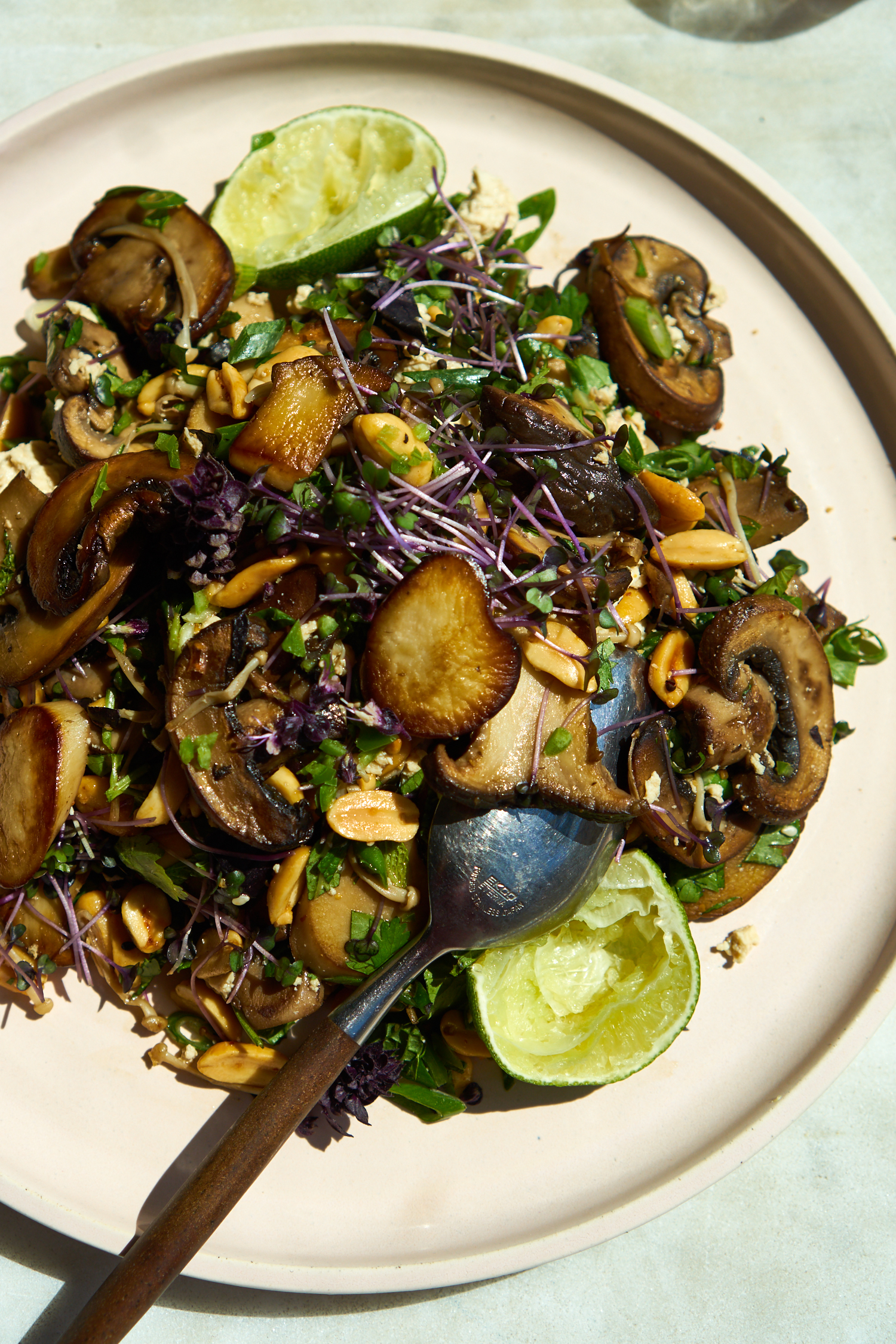 Quick Lime and Mushroom Salad